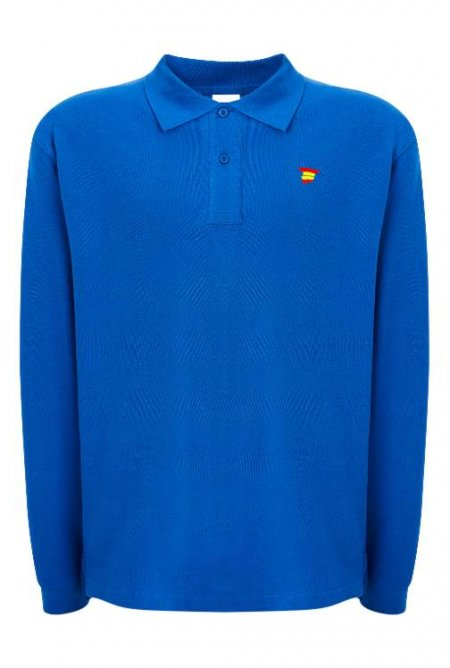 polo manga larga hombre royal blue gym2